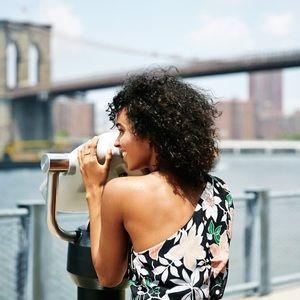 🆕 Listing! Loft wild orchid one shoulder dress