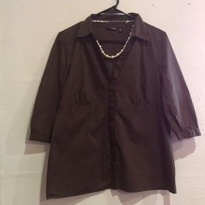 Brown blouse size extra-large