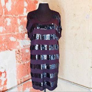 MICHAEL Michael Kors Navy Sequin Dress sz.M NWOT