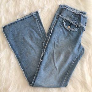 Vintage y2k [r49] light wash bootcut jeans