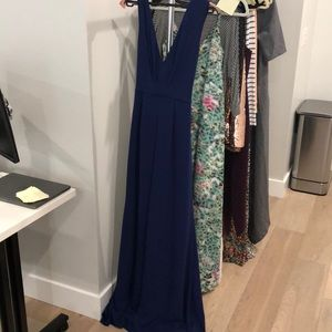 Gorgeous navy maxi dress