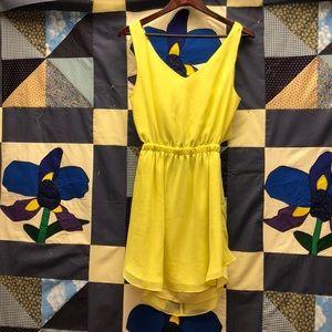 BCBGeneration lemon yellow dress