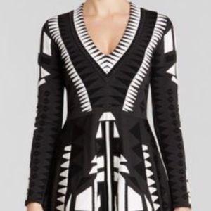 Parker black and white Napa dress