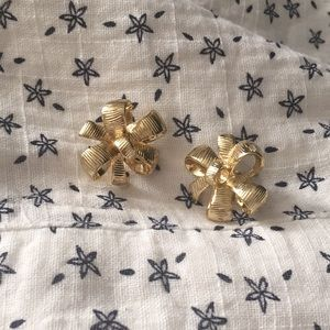 Lilly Pulitzer gold bow earrings