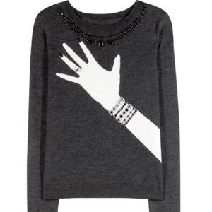 🦃DAY SALE Alice+ Olivia Wool Diamond Ring Sweater