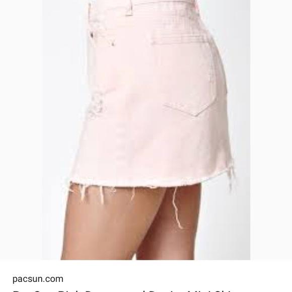 fc3112e26a Pastel pink jean skirt, lightly destroyed. M_5a132234522b45827b0e1d85