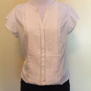Calvin Klein white blouse, short sleeves