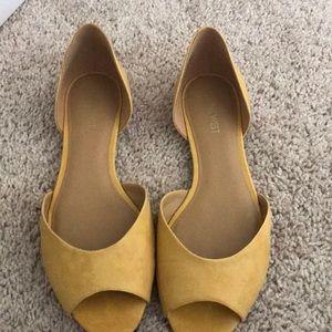 Nine West Yellow Flat Shoes