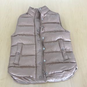 Gold J Crew Puffer Vest