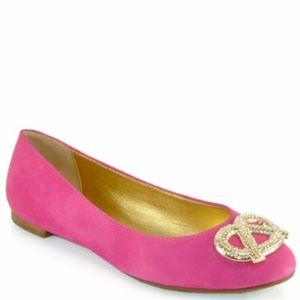Kate Spade New York Pink Telly Pretzel Flat, 8