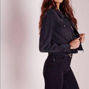 Black jean jacket size small