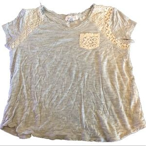 Grey and Lace T-shirt