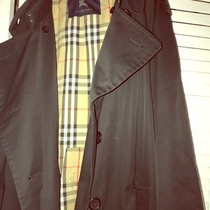 Men's Original Black Burberry Trench Coat
