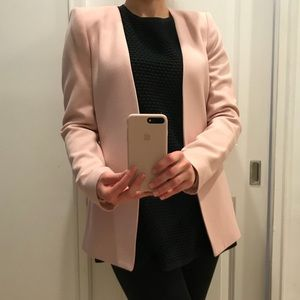 Zara pink blazer with shoulder pads size M