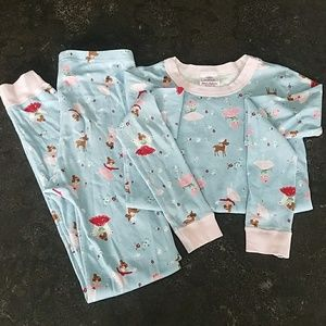 Hanna Andersson Christmas winter pajamas sz 12