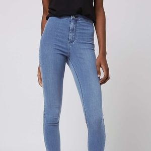 TOPSHOP👖 High Wasited Light Blue Joni Jeans Sz 26