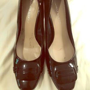 Franco Sarto Black Patent Heels