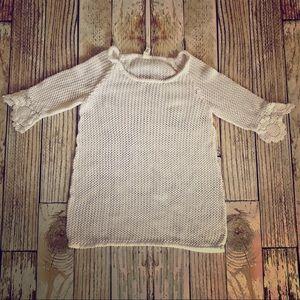 GAP crochet knit swimsuit coverup