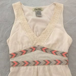 Flying Tomato sleeveless cream maxidress lace
