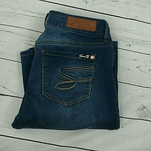 Seven7 flare stretch jeans 8
