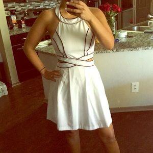 NWT Arden B. Cutout halter dress