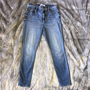 High Waist Skinny Ankle denim jeans