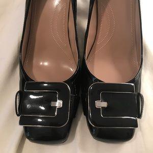 Tahari Black Patent Block Heels