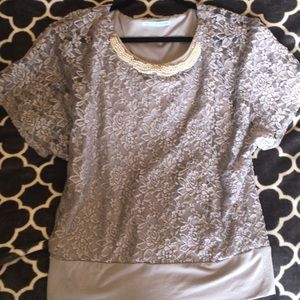 Maurices lace and pearl top