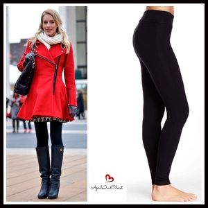 Pants - BLACK LEGGINGS FLAT WIDE WAISTBAND LEGGINGS
