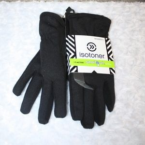 NWT Isotoner Active Women's SmarTouch Black Gloves