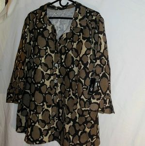 NWT Casual or Work Week 3x Blouse by East 5th