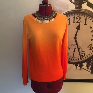 Sweaters - Bright Ombré Orange Sweater