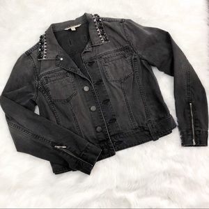 CAbi • Black Denim Jacket with Jewels