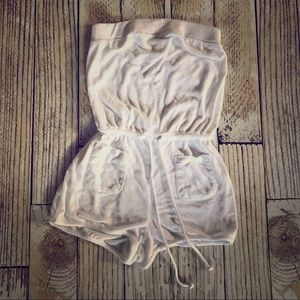 Victoria's Secret White Terry Swimsuit Coverup