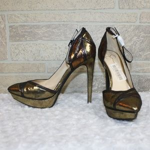 NEW! Jessica Simpson Brown Ankle Strap Heels 7.5