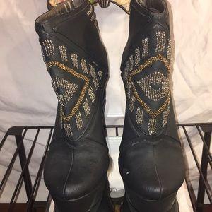 MICHAEL ANTONIO STUDIO Platform Ankle Boots Beaded