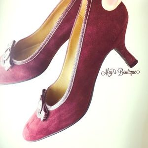 ⭐️Naturalizer Mahogany Purple Suede Heels 9 1/2⭐️