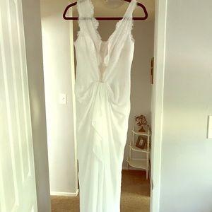"BCBG MAXAZRIA white ""Brandy"" floor length dress"