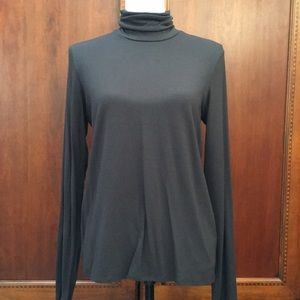 Eileen Fisher charcoal gray stretch turtleneck