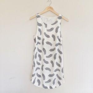 [H&M] Feather Print Dress