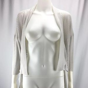 Eileen Fisher Sz M Ivory Silk Blend Cardigan