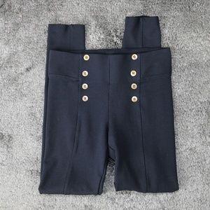 ZARA Basic Stretch Skinny Pant Navy Blue Medium