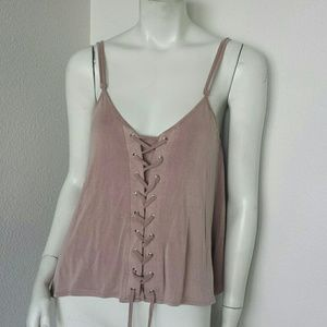 Nwt Olivaceous Lace up Tank