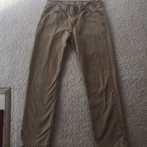 Levi's youth 514 khaki colored jeans 32 x 32