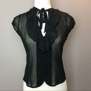 Banana Republic sheer lace blouse