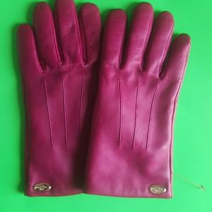 Coach Leather Gloves 7.5