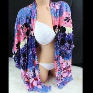 Victoria's Secret Printed Kimono Bikini Cover Up
