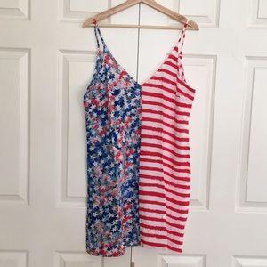 NWOT American Flag Spaghetti Strap Mini Dress