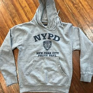 Tops - Authentic NYPD Grey Hoodie