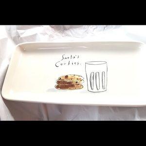 Rae Dunn Santa's Cookies Platter